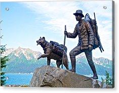 Trail Blazers Sculpture For 2012 Iditarod Beginning At Mile 0 In Seward-ak Acrylic Print