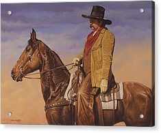 Acrylic Print featuring the painting Trail Boss by Ron Crabb