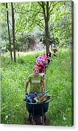 Trail Conservation Volunteers Acrylic Print by Jim West