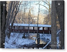 Trail River Covered Bridge Acrylic Print
