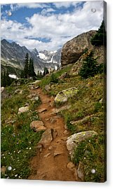 Trail To Lake Isabelle Acrylic Print
