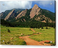 Trail To The Flatirons Acrylic Print by Daniel Woodrum