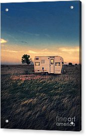 Trailer At Dusk Acrylic Print by Jill Battaglia