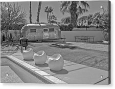 Trailer In Backyard Acrylic Print