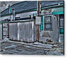 Trailer Park Community Center Acrylic Print by MJ Olsen