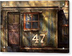 Train - A Door With Character Acrylic Print by Mike Savad