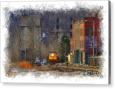 Train At Thurmond Wv Acrylic Print by Dan Friend