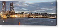 Train Bridge Panorama Acrylic Print