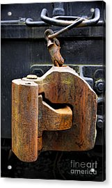 Train Car Coupler Acrylic Print