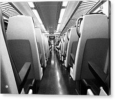 Train Car Acrylic Print by Sam Newton