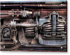 Train - Car - Springs And Things Acrylic Print by Mike Savad
