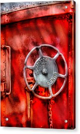 Train - Car - The Wheel Acrylic Print by Mike Savad