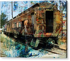 Train Cars Acrylic Print by Robert Ball