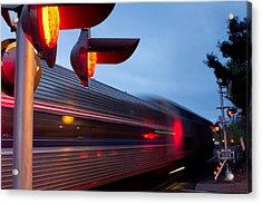 Train Crossing Road Acrylic Print