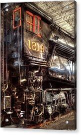 Train - Engine - 1218 - Norfolk Western - Class A - 1218 Acrylic Print by Mike Savad