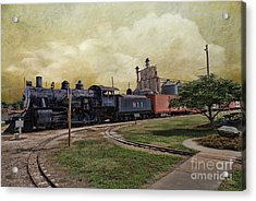Train - Engine Acrylic Print by Liane Wright