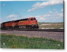Train Engines On The Prairie Acrylic Print