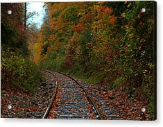 Train Fall Acrylic Print