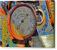 Train Gauge Acrylic Print by Gregory Dyer