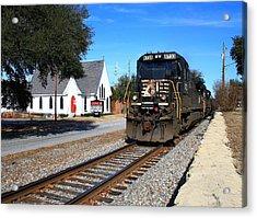 Train Goes To Church Acrylic Print