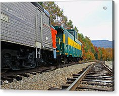Acrylic Print featuring the photograph Train In New Hampshire by Amazing Jules