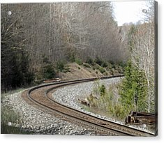 Train It Coming Around The Bend Acrylic Print