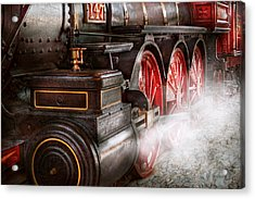 Train - Let Off Some Steam  Acrylic Print by Mike Savad