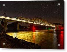 Train Lights In The Night Acrylic Print