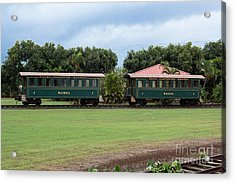 Acrylic Print featuring the photograph Train Lovers by Suzanne Luft
