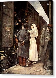 Train Of The Wounded, 1915 Acrylic Print