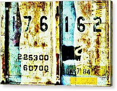 Train Plate 3 Acrylic Print by April Lee
