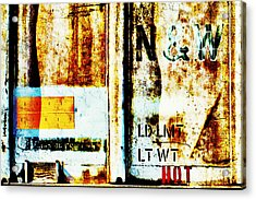 Train Plate 4 Acrylic Print by April Lee