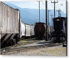 Train Shunting Station Acrylic Print by Nicki Bennett