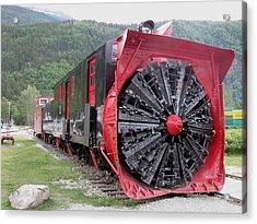 Train Snowplow Acrylic Print by Steven Parker
