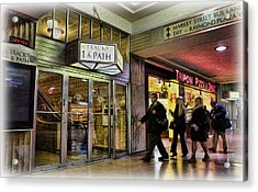 Train Station - Going Home II Acrylic Print by Lee Dos Santos