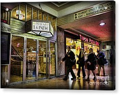 Train Station - Going Home Acrylic Print by Lee Dos Santos