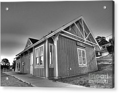 Train Station In Beulah Acrylic Print by Twenty Two North Photography