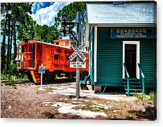 Train Station In Hdr Acrylic Print by Michael White