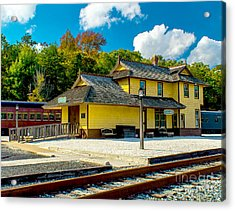 Train Station In Tuckahoe Acrylic Print