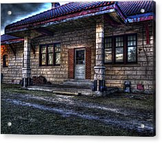 Train Stop Acrylic Print by Thomas Young