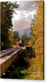 Train Through The Valley Acrylic Print by Robert Frederick