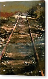 Train Track To Hell Acrylic Print