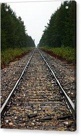 Train Track Vanishing Acrylic Print by Kevin Snider