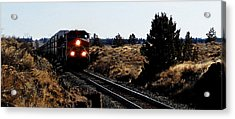 Train Tracks Acrylic Print by Jennifer Muller