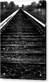 Train Tracks Acrylic Print by Nikki Dunn