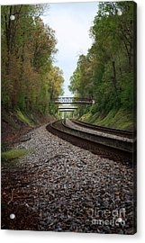 Train Tracks Acrylic Print by Suzi Nelson