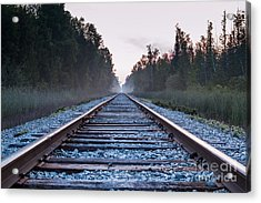 Acrylic Print featuring the photograph Train Tracks To Nowhere by Patrick Shupert