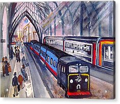 Train Train Train Acrylic Print by Esther Woods