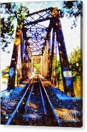 Train Trestle Bridge 2 Acrylic Print by Janine Riley
