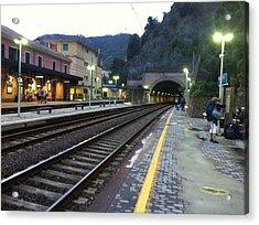 Train Tunnel In Cinque Terre Italy Acrylic Print